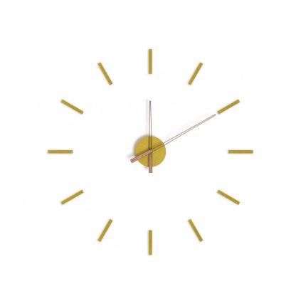 Samolepící nástěnné hodiny - žluté