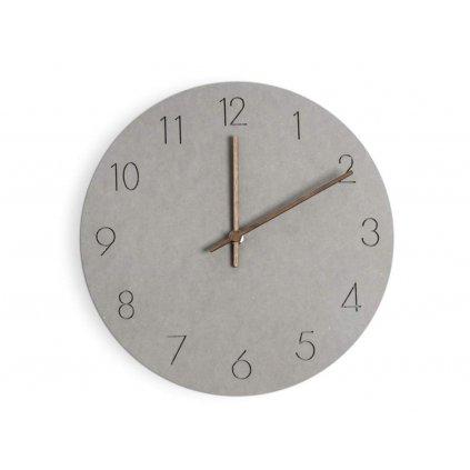 Nástěnné hodiny Bonne - šedé
