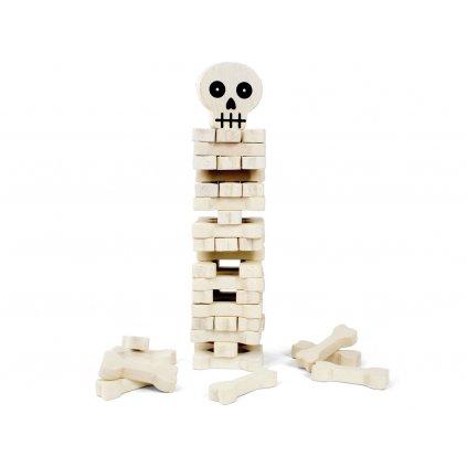 Hra dřevěná věž - kostlivec