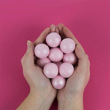 Šumivé koule do koupele - Rosé