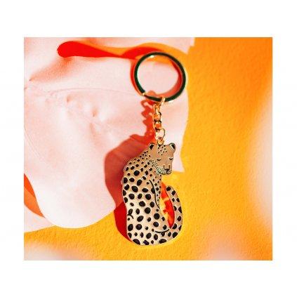 Přívěšek na klíče - leopard