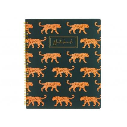 Zápisník A4 - leopard