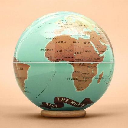 Globus jako kasička pro cestovatele