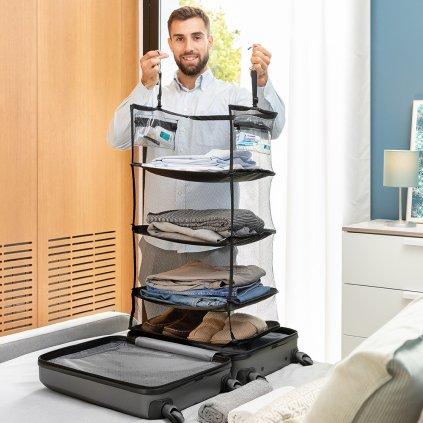 Cestovní rozkládací polička do zavazadla Sleekbag