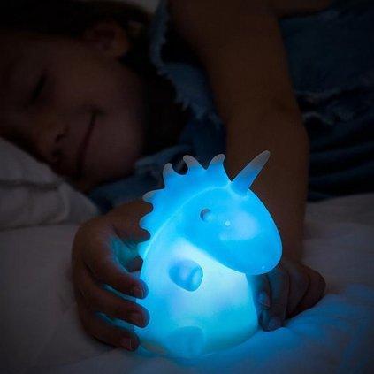 Barevná LED lampa | jednorožec