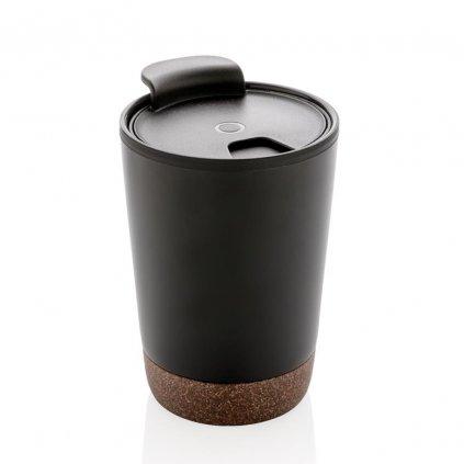 Termo hrnek na kávu s korkem | černý