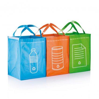 Tři tašky na tříděný odpad
