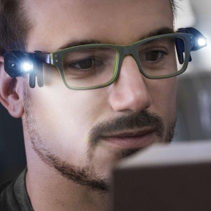 Světlo na brýle 360° - 2 kusy