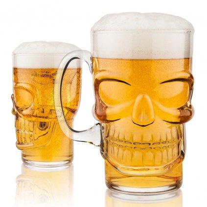 Obří sklenice - lebka | 700 ml