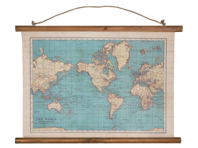 Retro mapa světa