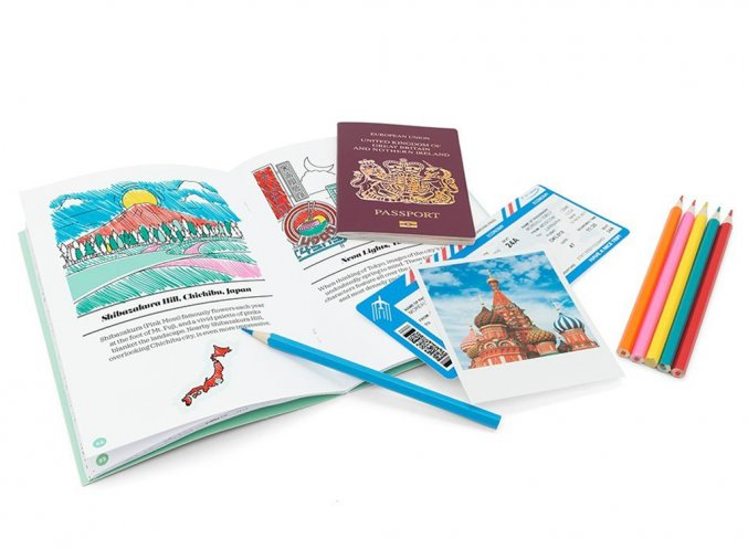 Omalovánky pro cestovatele Colorlogue