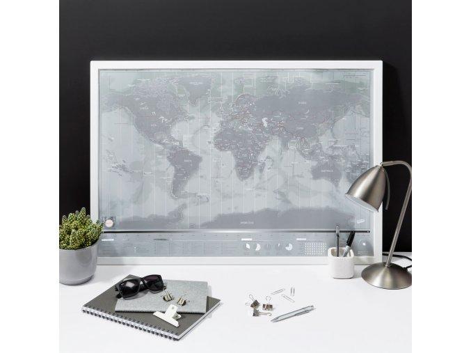 Stírací mapa světa - platinová verze