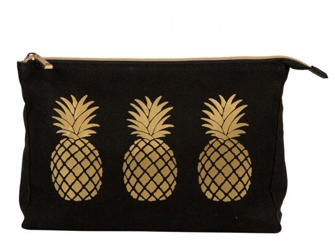 Toaletní taška - Gold Pineapple