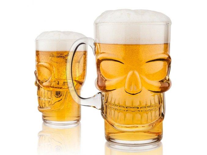 Obří sklenice - lebka   700 ml