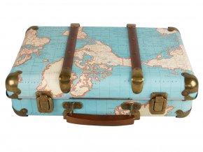 Kufřík s motivem mapy světa