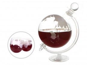 Luxusní karafa na destiláty + dvě sklenice