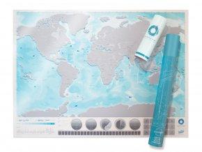 Stírací mapa světa: oceány
