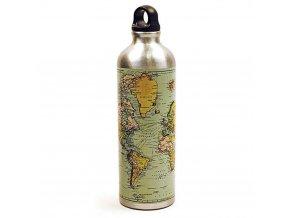 Láhev na vodu s mapou světa