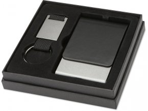 Sada kovového vizitkáře a přívěsku na klíče