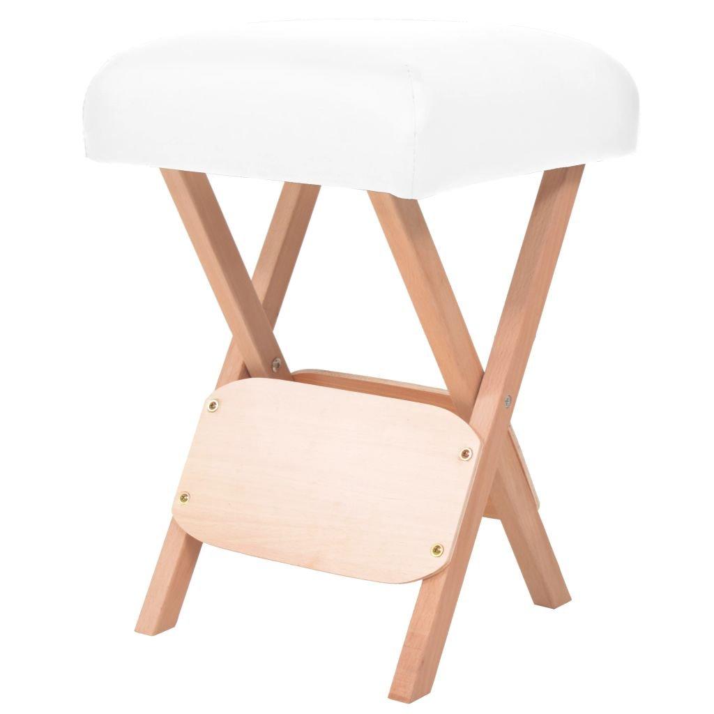 Skládací masážní stolička - 12 cm | bílá