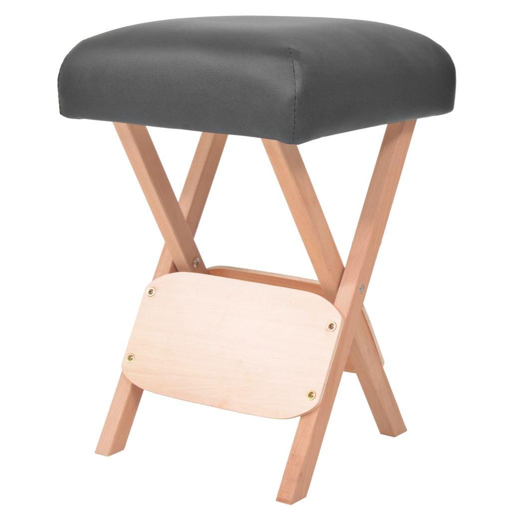 Skládací masážní stolička - 12 cm   černá