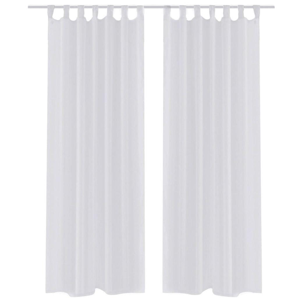 Bílé průsvitné závěsy - 2 ks   140x175 cm