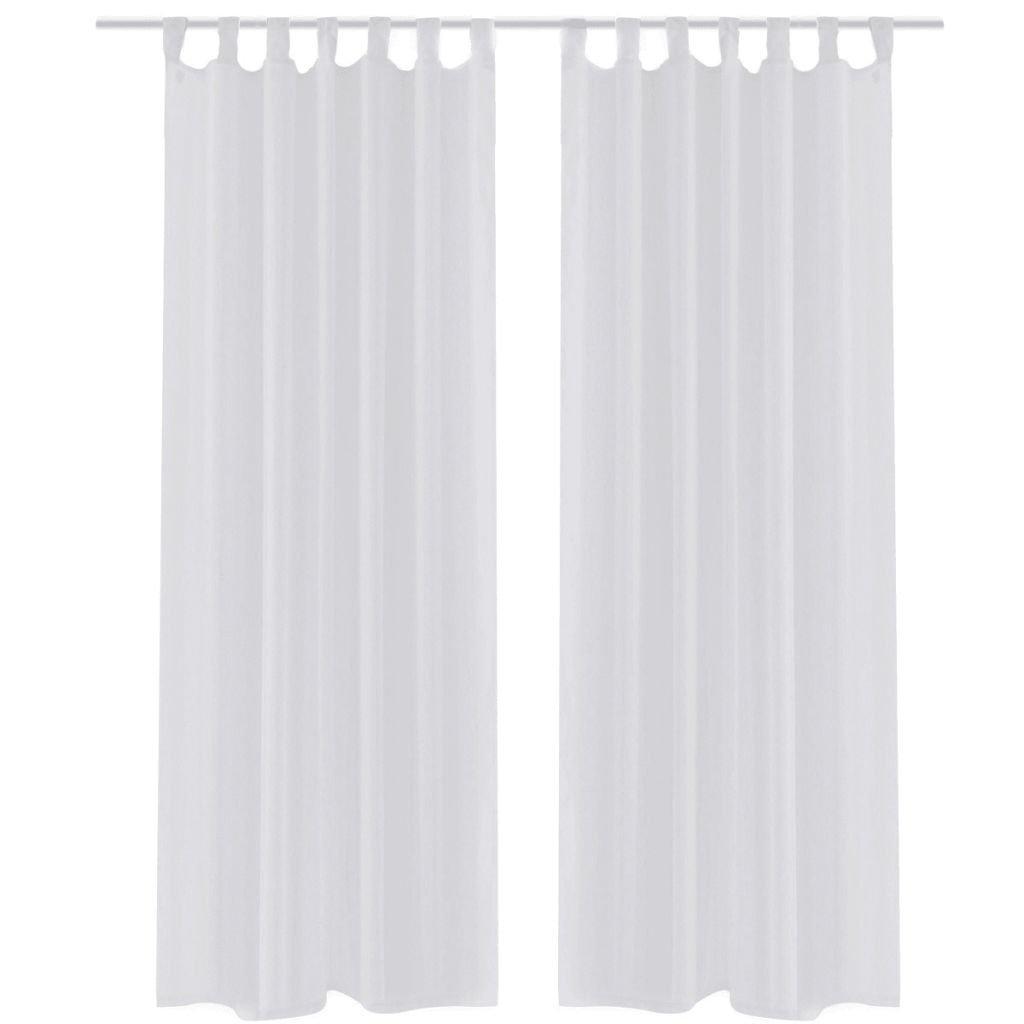 Bílé průsvitné závěsy - 2 ks | 140x225 cm