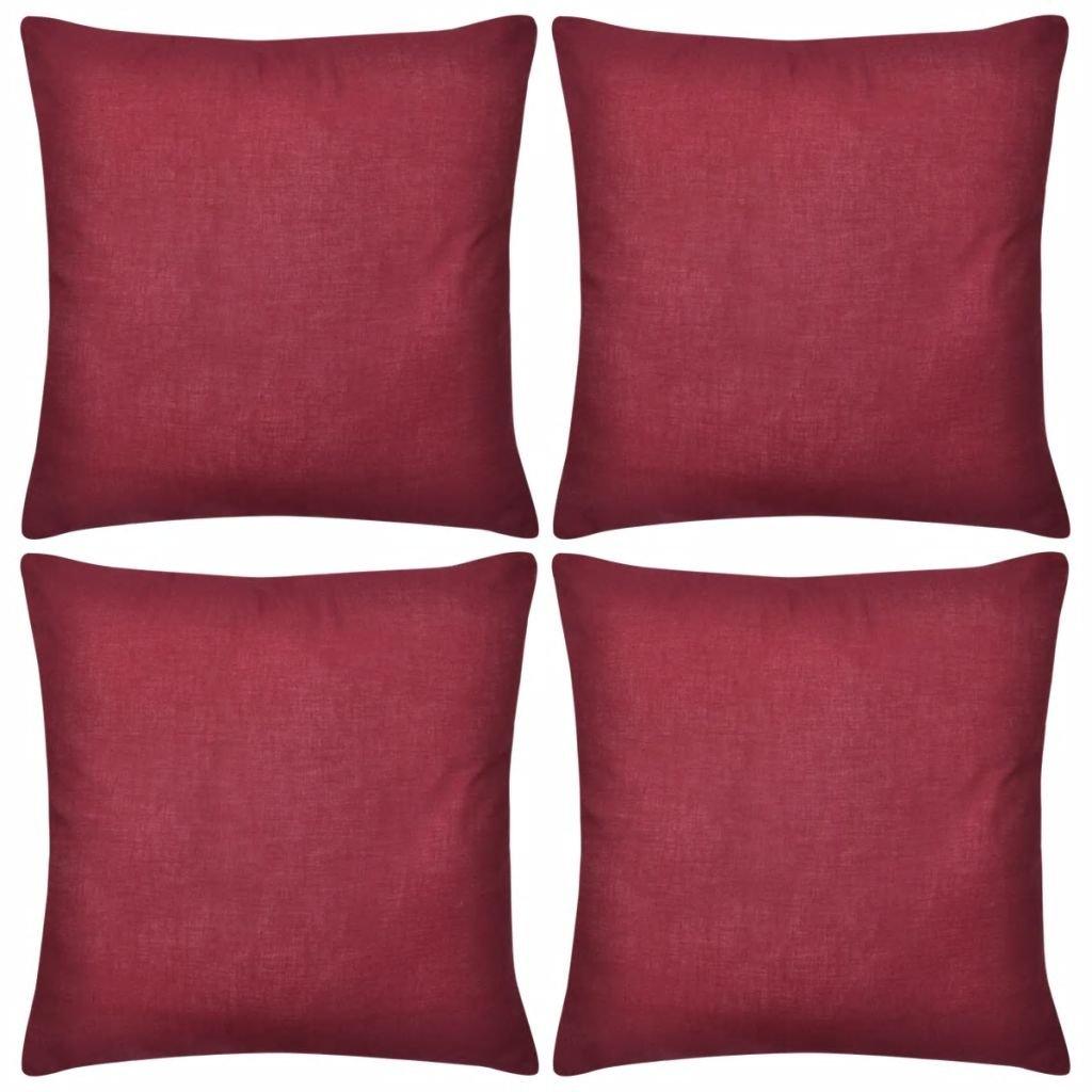 4 vínové povlaky na polštářky - bavlna | 40x40 cm