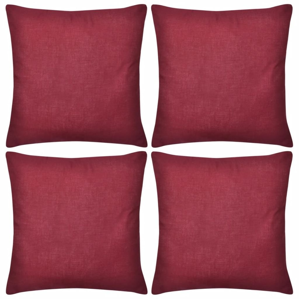 4 vínové povlaky na polštářky - bavlna | 50x50 cm