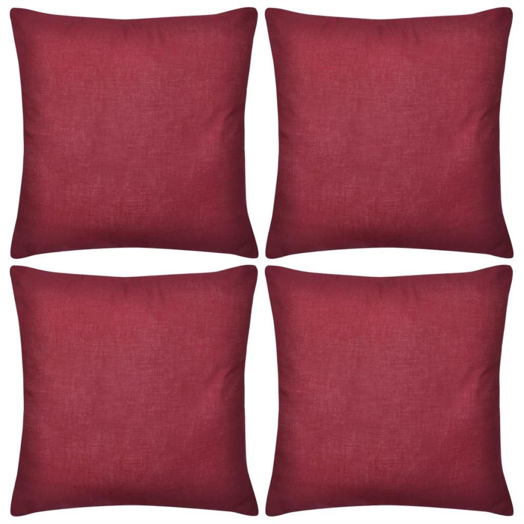 4 vínové povlaky na polštářky - bavlna | 80x80 cm