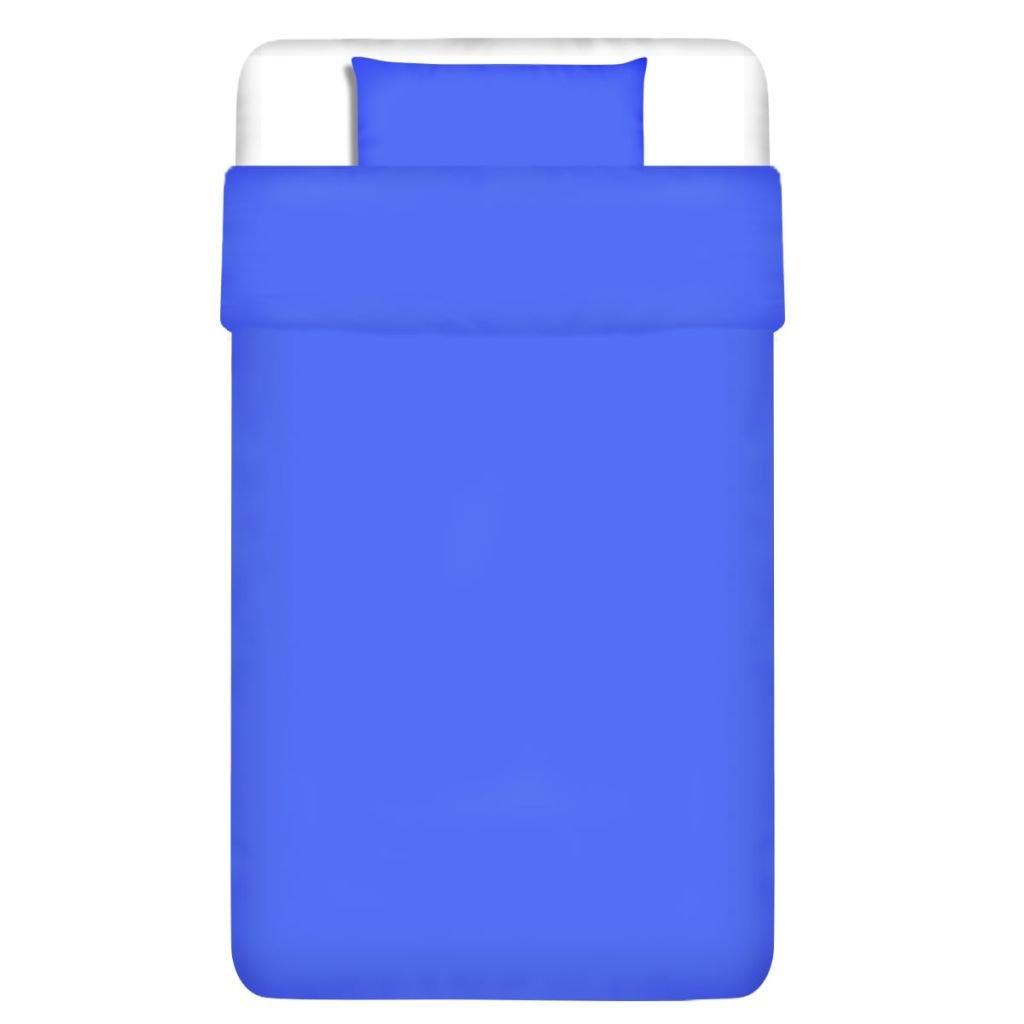 Dvojdílná bavlněná sada povlečení - modrá | 155x200/80x80 cm