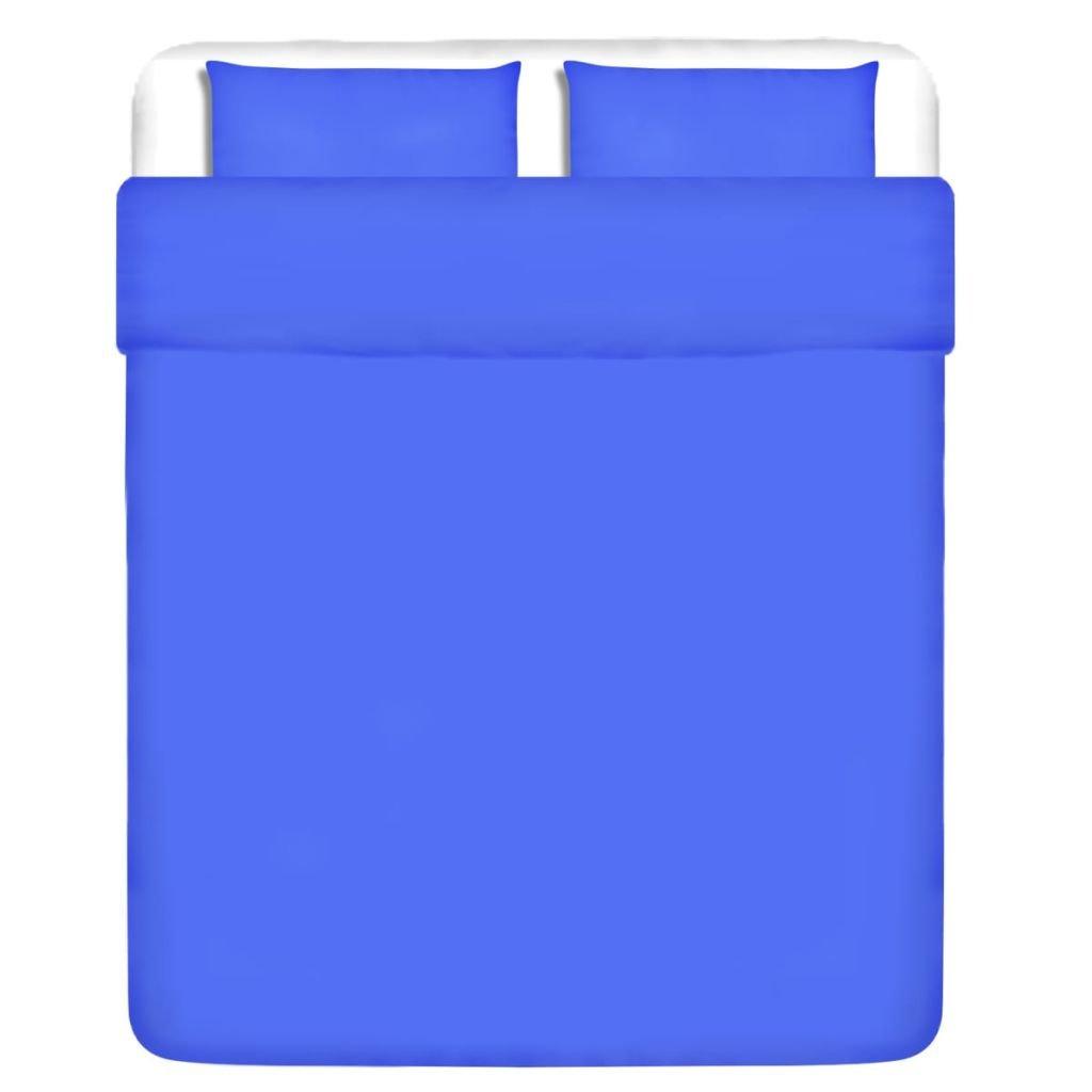Třídílná bavlněná sada povlečení - modrá | 200x220/80x80 cm