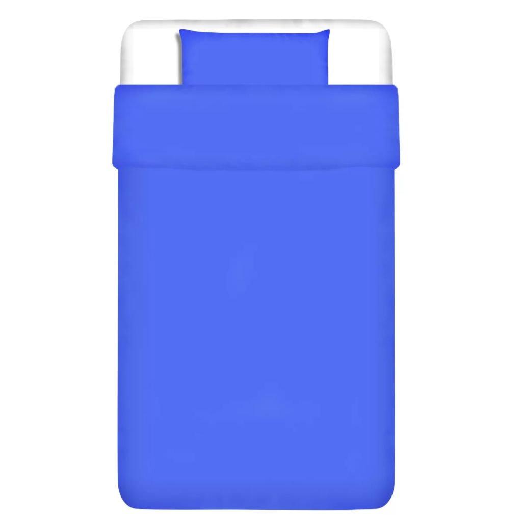 Dvojdílná bavlněná sada povlečení - modrá | 155x200/60x70 cm