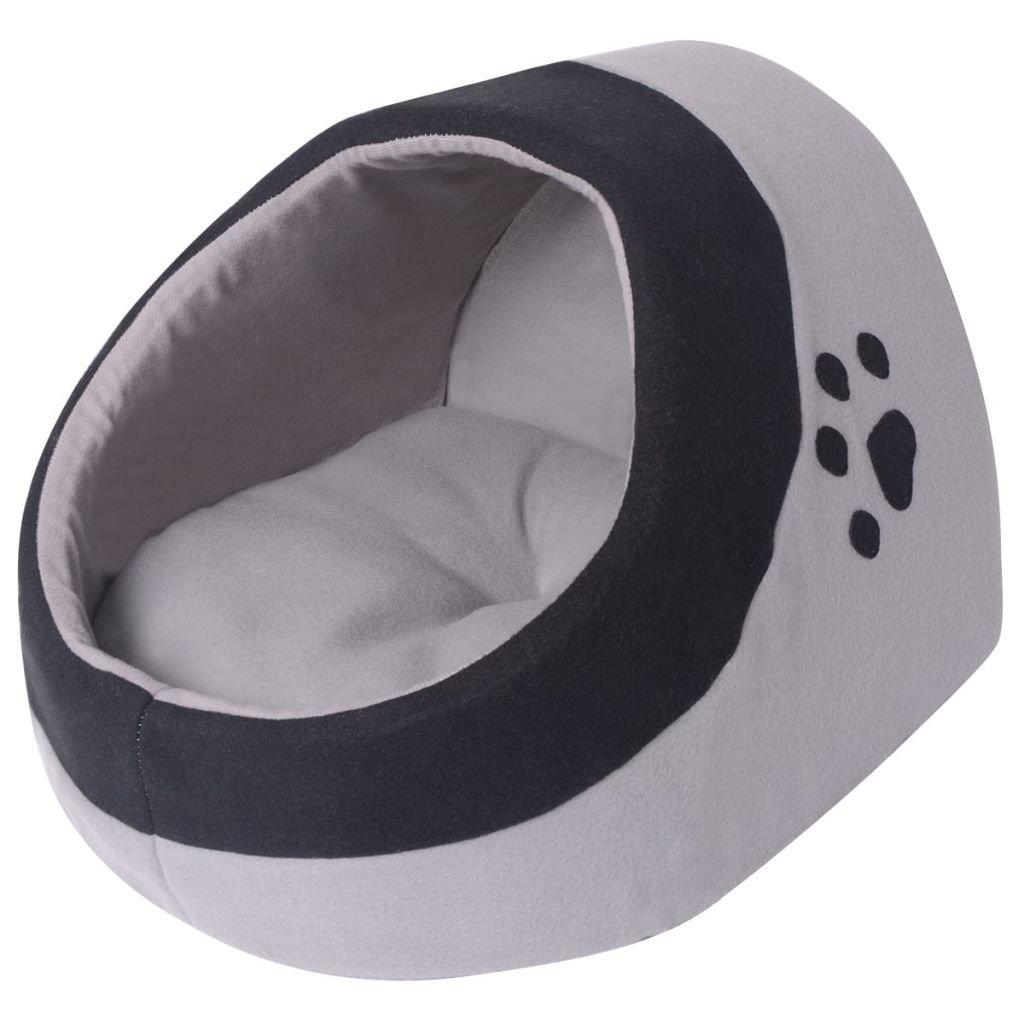 Kočičí pelíšek - šedá a černá | M