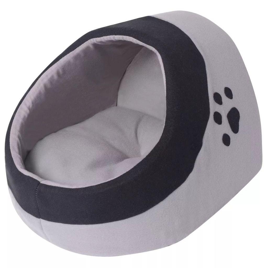Kočičí pelíšek - šedá a černá   L