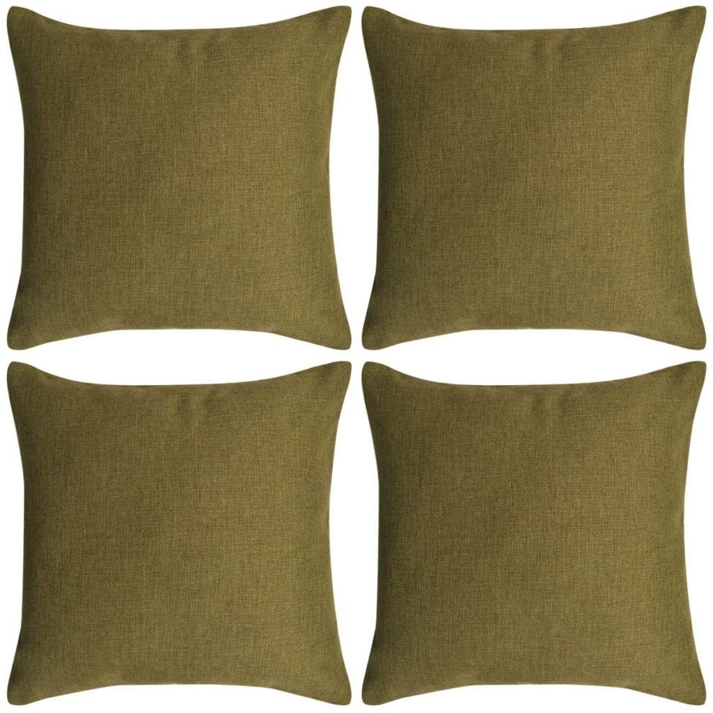 Povlaky na polštářek - 4 ks - 40x40 cm | zelené
