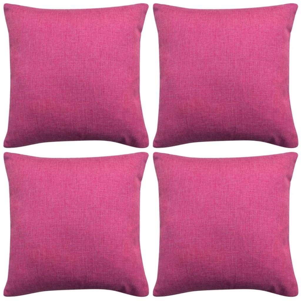 Povlaky na polštářek - 4 ks - 40x40 cm   růžové