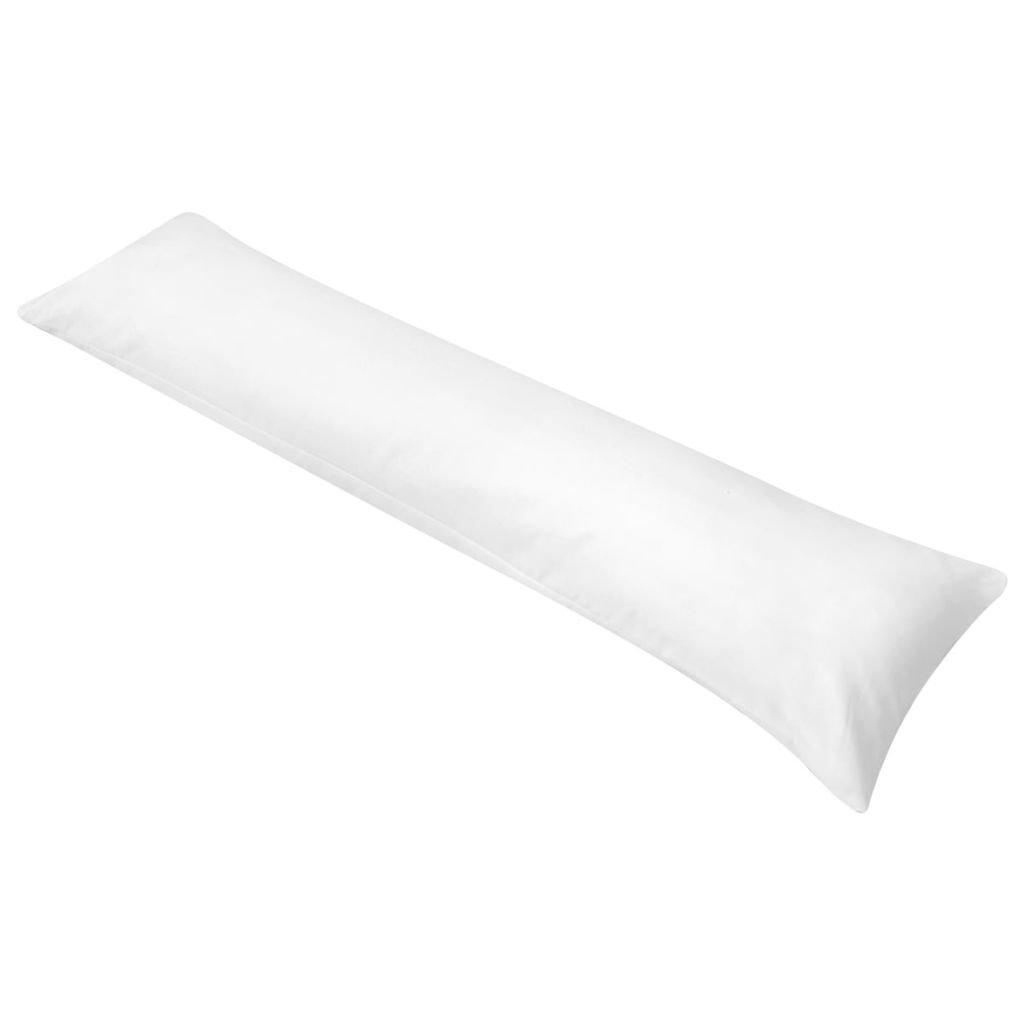Polštář pro tělo pro spaní na boku - bílý | 40x145 cm