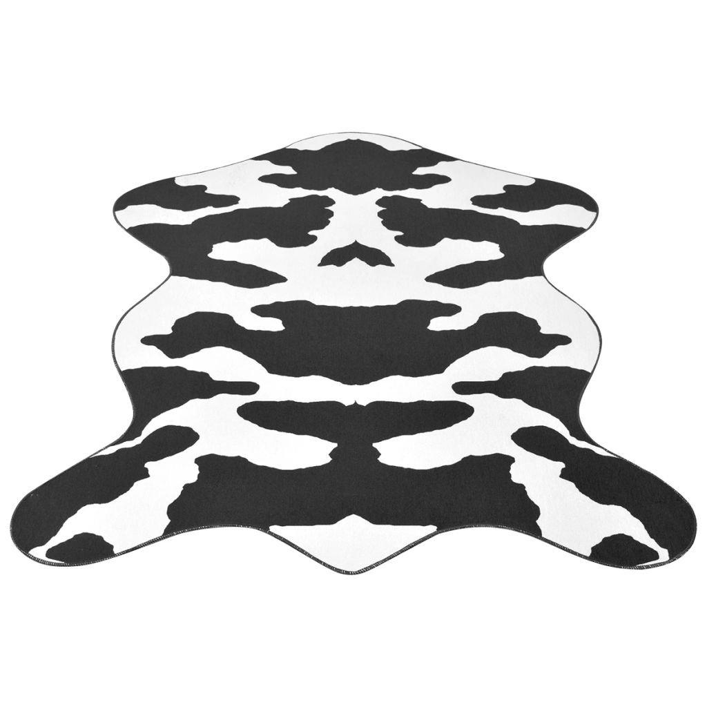 Tvarovaná rohož - potisk kráva černá | 150x220 cm