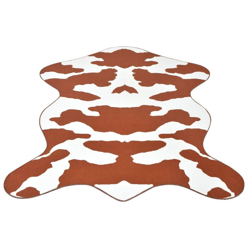 Tvarovaná rohož - potisk kráva hnědá   150x220 cm