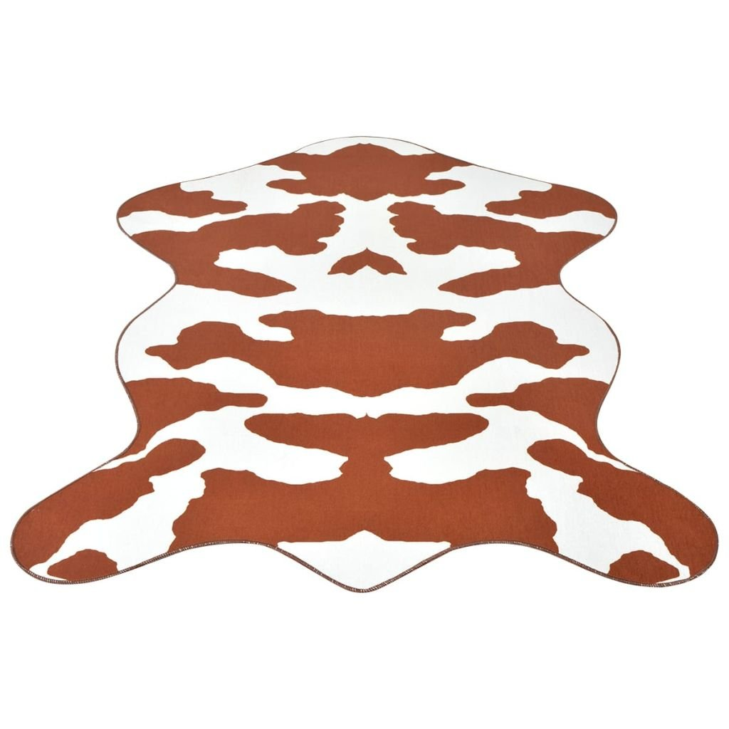 Tvarovaná rohož - potisk kráva hnědá | 150x220 cm