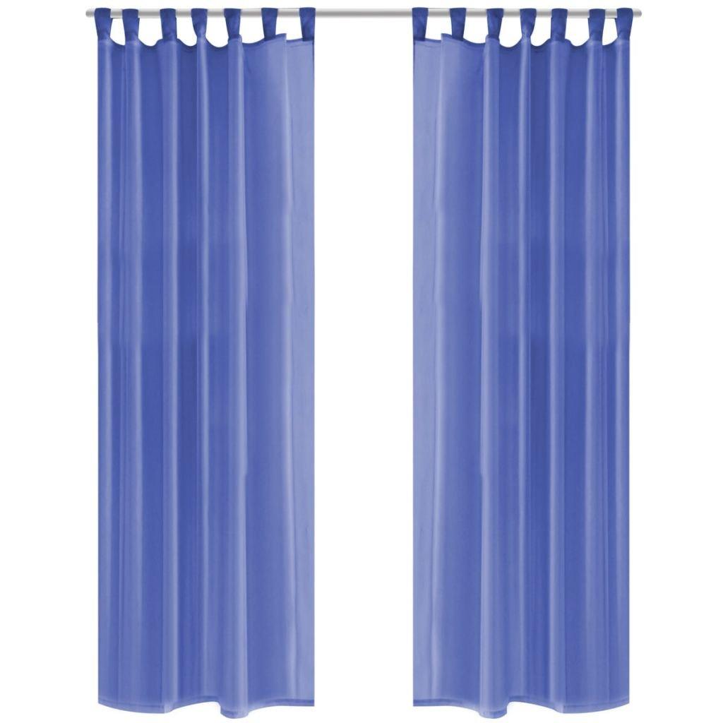 Voálové závěsy - modré - 2 ks | 140x245 cm