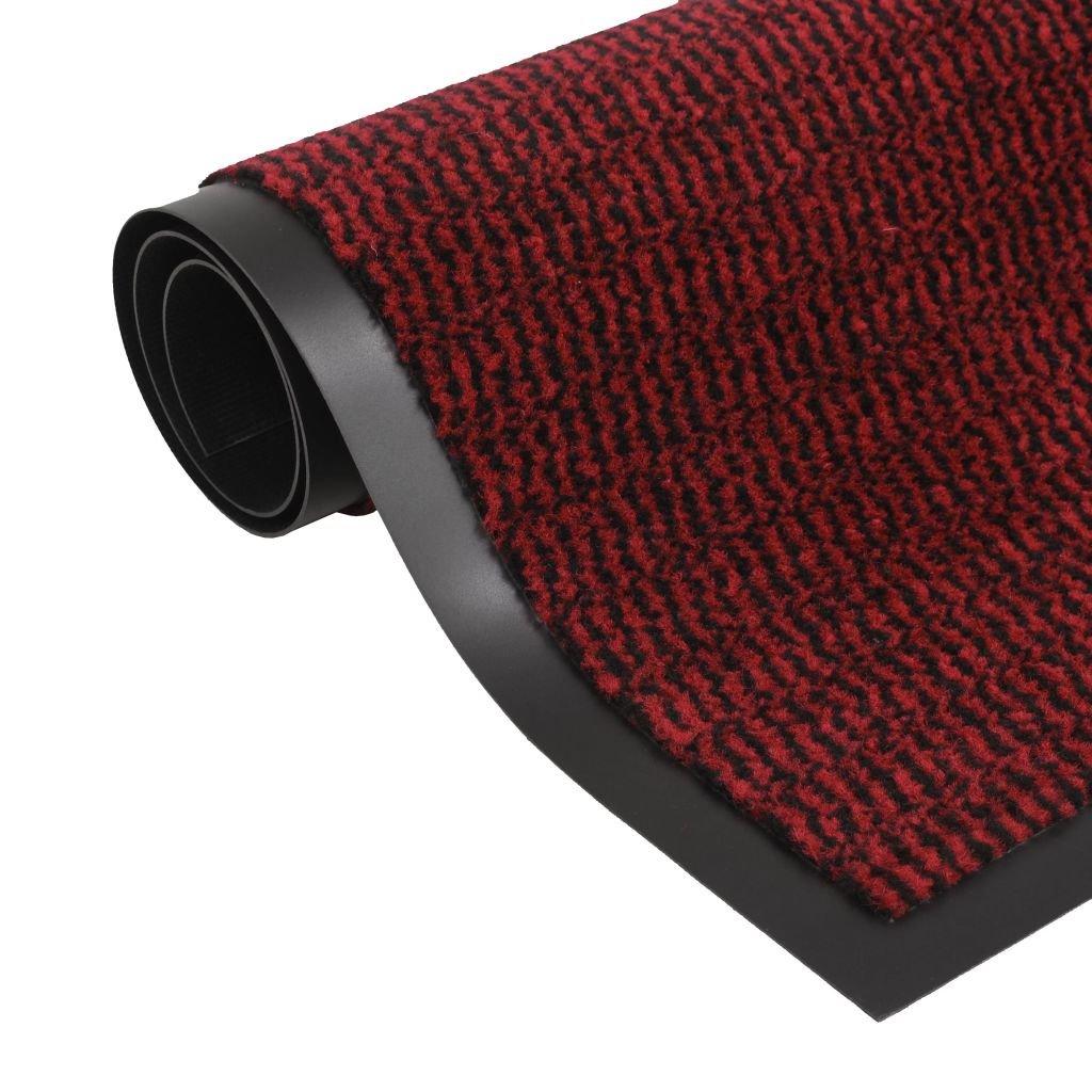Protiprachová obdélníková rohožka všívaná - červená | 60x90 cm