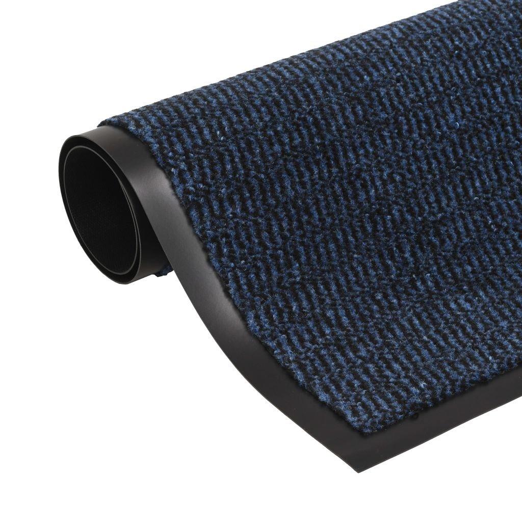 Protiprachová obdélníková rohožka všívaná - modrá | 60x90cm