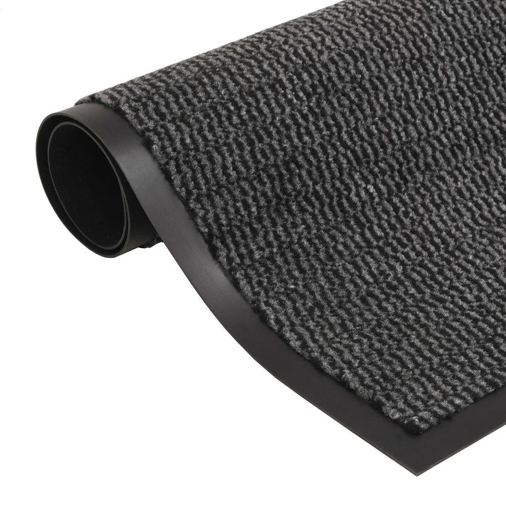 Protiprachová obdélníková rohožka všívaná - antracitová   80x120cm