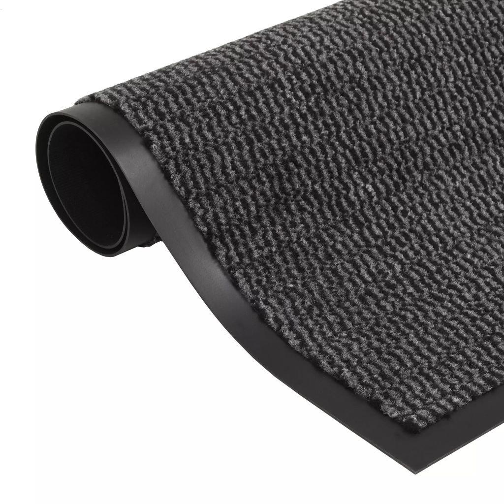 Protiprachová obdélníková rohožka všívaná - antracitová | 90x150 cm
