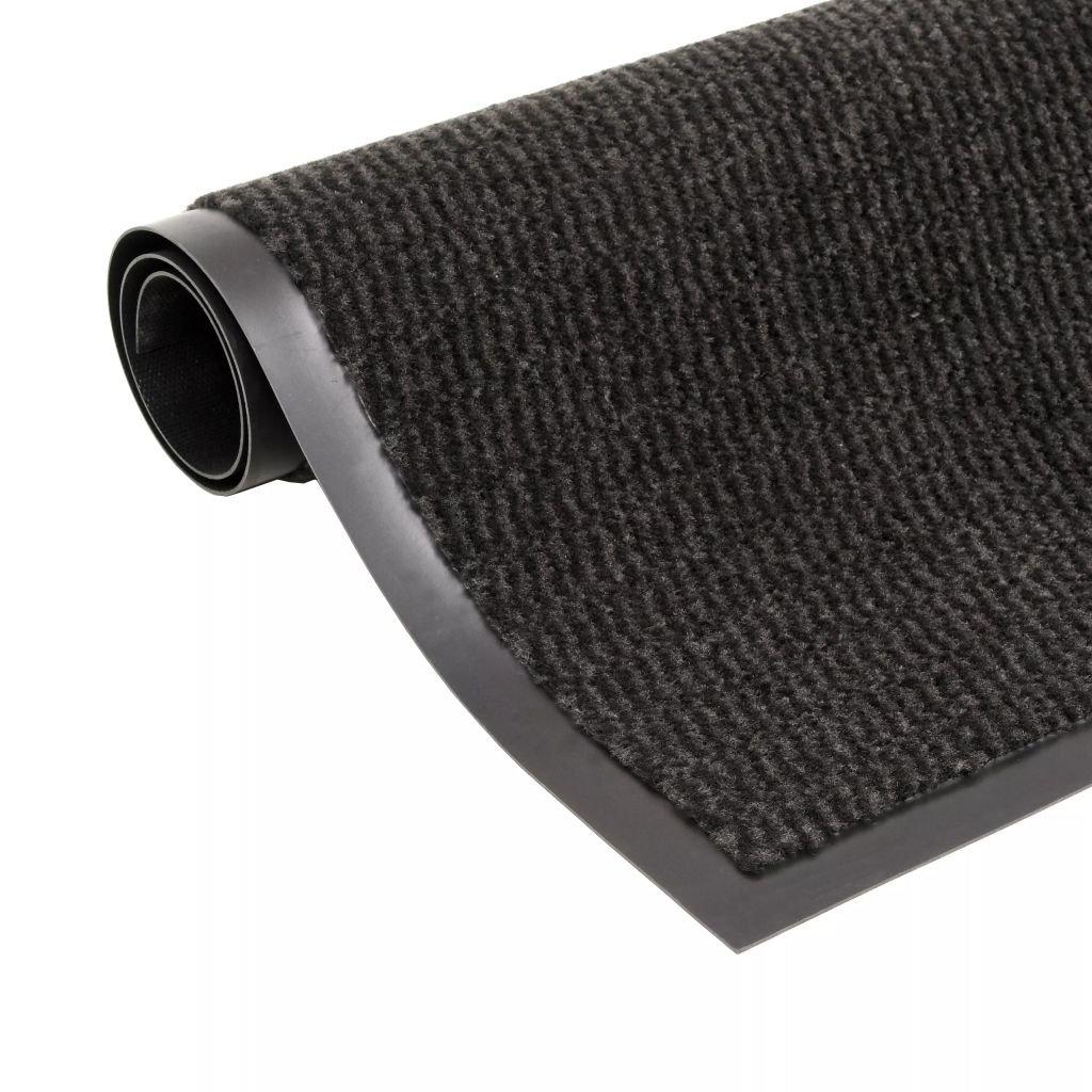 Protiprachová obdélníková rohožka všívaná - černá | 90x150cm