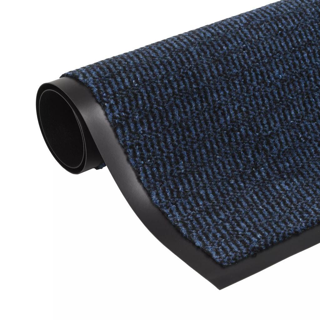 Protiprachová obdélníková rohožka všívaná - modrá | 90x150cm