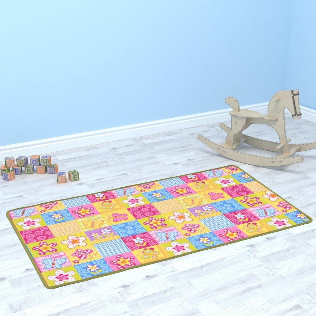 Hrací koberec smyčkový vlas - vzor motýlci | 67x120 cm