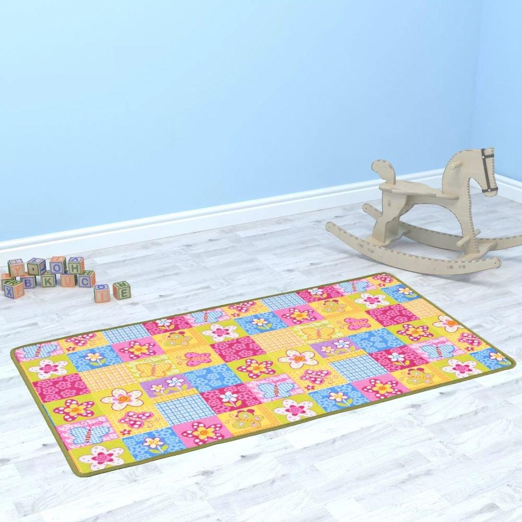 Hrací koberec se smyčkovým vlasem - vzor motýlci | 133x180 cm